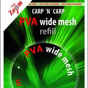 CZ PVA utántöltő 37mm pva_wide_mesh_refill5m